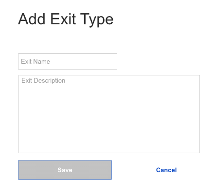 Add an exit type